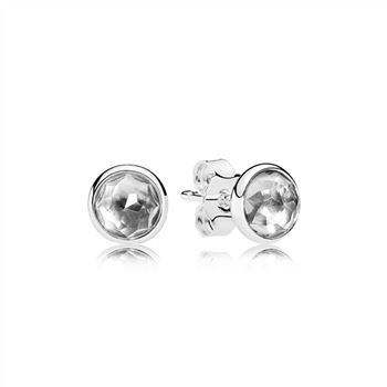 Pandora April Droplets Stud Earrings, Rock Crystal 290738RC