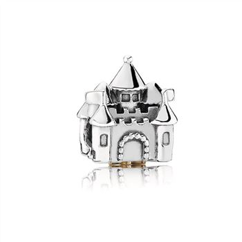 Pandora Fairytale Castle Silver and Gold Charm - PANDORA 791133PCZ