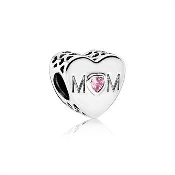 Pandora Mother Heart Charm, Pink CZ 791881PCZ