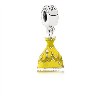 Pandora Disney, Belle's Dress Dangle Charm, Mixed Enamel 791576ENMX