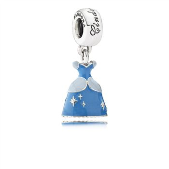 Pandora Disney, Cinderella's Dress Dangle Charm, Mixed Enamel 791578ENMX