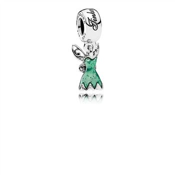 Pandora Disney, Tinker Bell's Dress Dangle Charm, Glittering Green Enamel 792138EN93