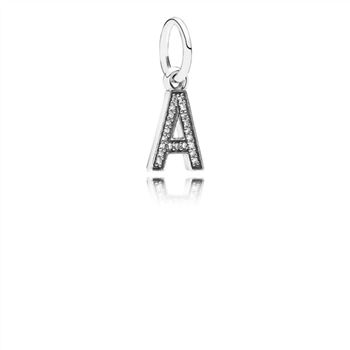 Pandora Letter A Dangle Charm, Clear CZ 791313CZ