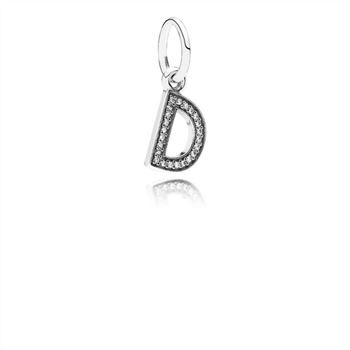 Pandora Letter D Dangle Charm, Clear CZ 791316CZ