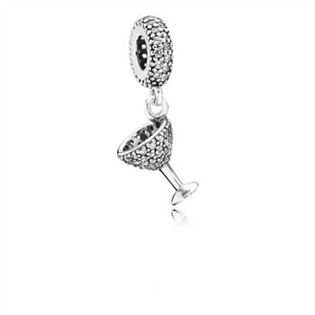 Pandora Night Out Dangle Charm, Clear CZ 791535CZ