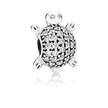 Pandora Sea Turtle Charm, Clear CZ 791538cz