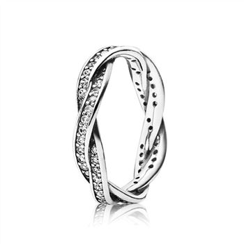 Pandora Twist Of Fate Stackable Ring, Clear CZ 190892CZ