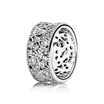 Pandora Shimmering Leaves Ring, Clear CZ 190965CZ