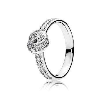 Pandora Sparkling Love Knot Ring, Clear CZ 190997CZ