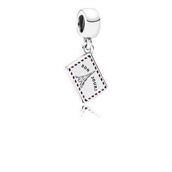 Pandora Holiday Greetings Pendant Charm 791711ENMX