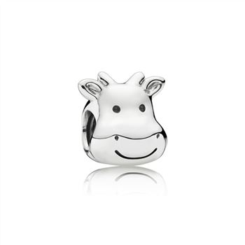 Pandora Cheerful Cow Silver Charm 791748