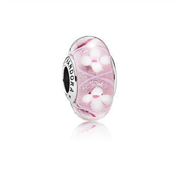 Pandora Field of Flowers Pink Murano Glass Charm 791665