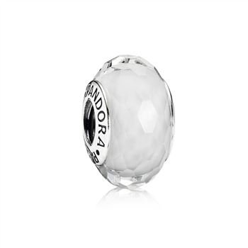 Pandora Fascinating White Charm, Murano Glass 791070