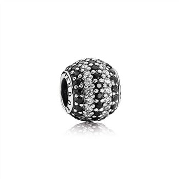 Pandora Nautical Pave Lights, Black Crystal & Clear CZ 791172NCK
