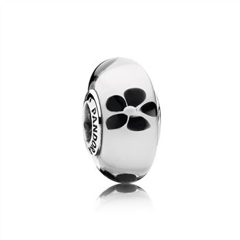 Pandora Black Glass Cherry Blossom Charm 791605