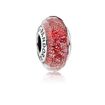 Pandora Red Shimmer Murano Glass Charm 791654