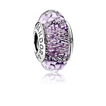 Pandora Dark Purple Shimmer Charm, Murano Glass 791663