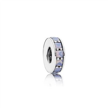 Pandora Eternity Spacer, Opalescent White Crystal 791724NOW
