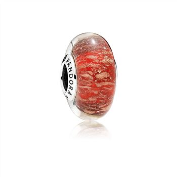 Pandora Red Twinkle Murano Glass Charm 796366