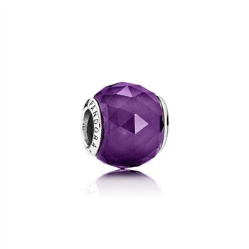 Pandora Geometric Facets Charm, Royal-Purple Crystal 791722NRP