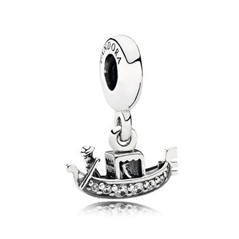 Pandora Gondola Dangle Charm, Clear CZ 791143CZ