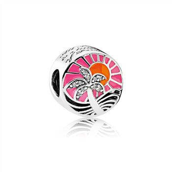 Pandora Tropical Sunset Charm, Mixed Enamel & Clear CZ 792116ENMX