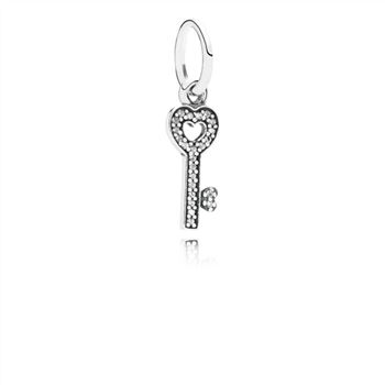 Pandora Symbol Of Trust Dangle Charm, Clear CZ 791353CZ