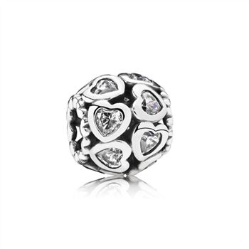 Pandora Love All Around Charm, Clear CZ 791250CZ