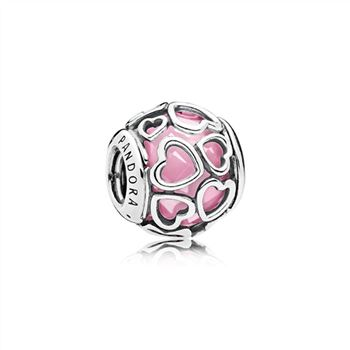 Pandora Encased in Love Charm, Pink CZ 792036PCZ