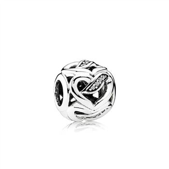 Pandora Ribbons of Love Charm, Clear CZ 792046CZ